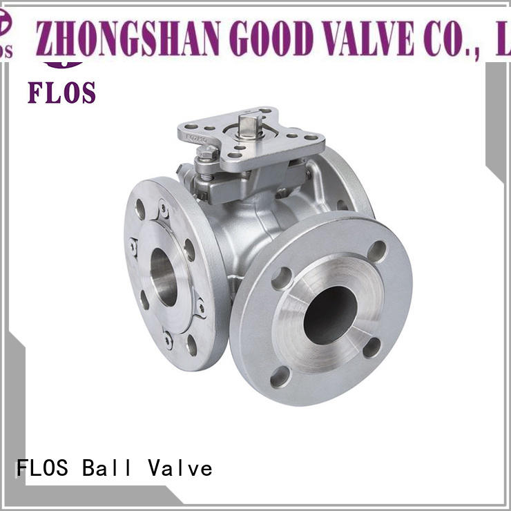 FLOS valve 3 way flanged ball valve Suppliers for opening piping flow