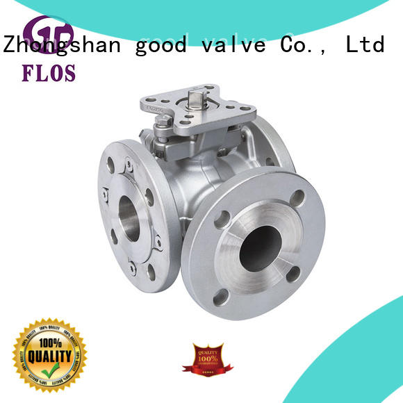switch 3 way flanged ball valve dimensions manufacturer for closing piping flow FLOS