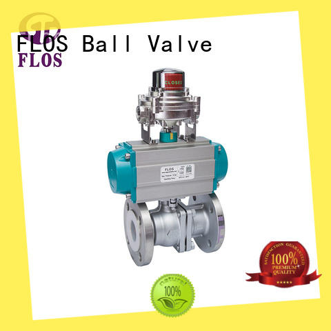 FLOS pneumaticworm two piece ball valve supplier for directing flow