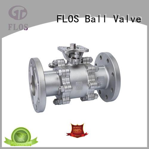 3 pc high-platform ball valve, flanged ends