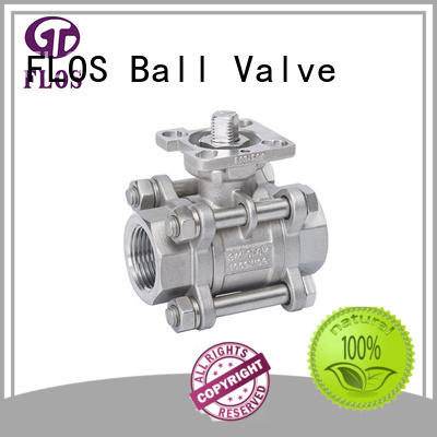 FLOS pneumaticworm 3 piece stainless steel ball valve wholesale for directing flow