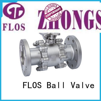 FLOS highplatform 3 piece stainless ball valve supplier for opening piping flow