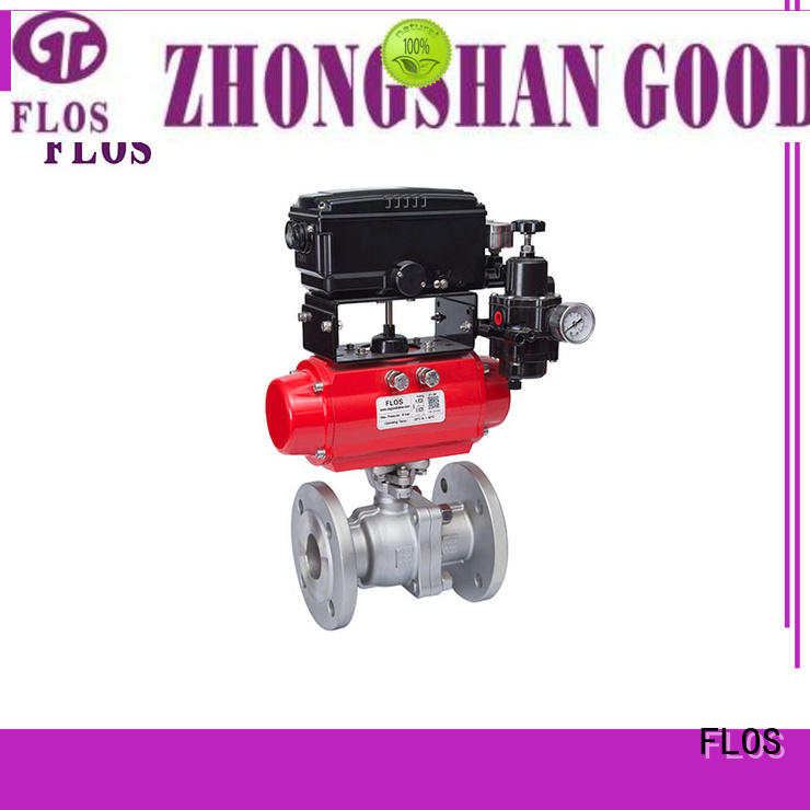 FLOS pneumatic 2-piece ball valve for business for closing piping flow