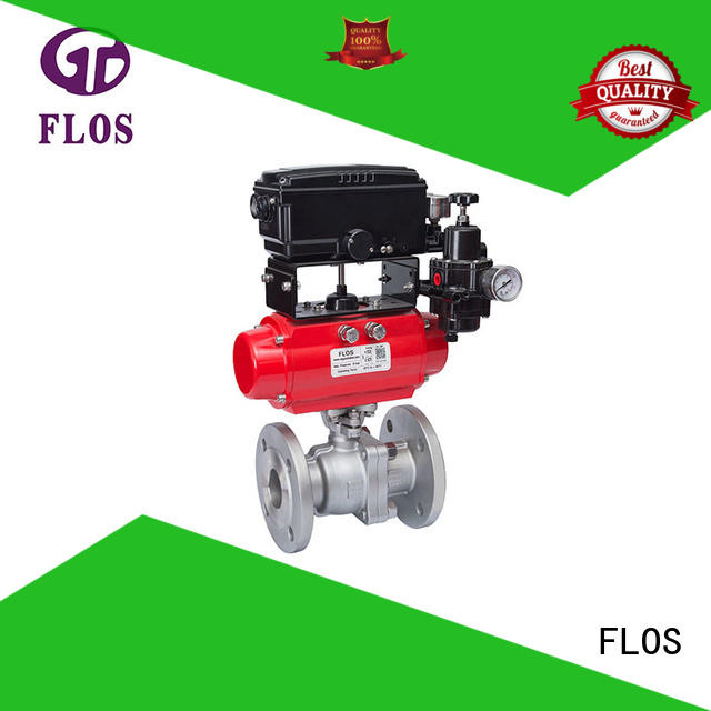 2-piece ball valve pc for closing piping flow FLOS