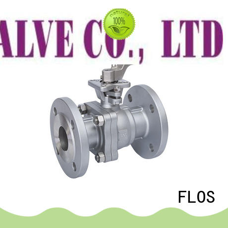 FLOS durable 2-piece ball valve wholesale for closing piping flow