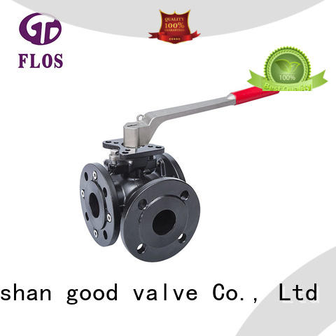 switch 3 way flanged ball valve carbon for closing piping flow FLOS