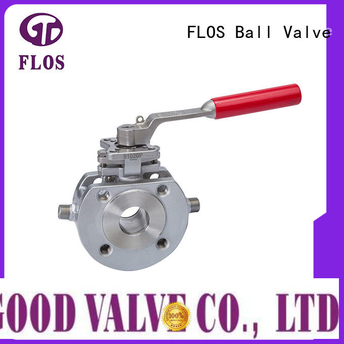FLOS valve 1 piece ball valve supplier for opening piping flow