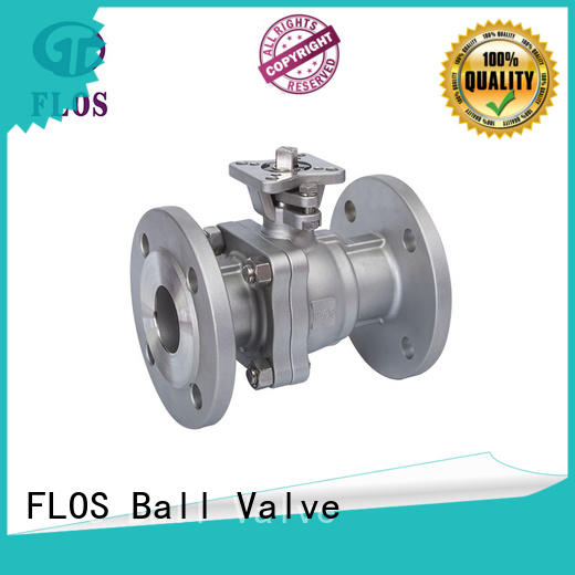 FLOS manual 2 piece stainless steel ball valve wholesale for directing flow
