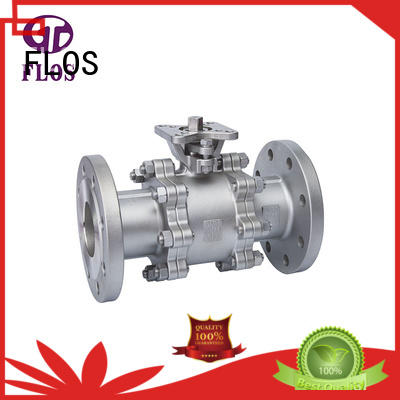 FLOS safety 3-piece ball valve pc for closing piping flow