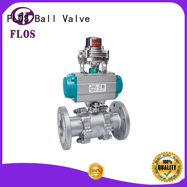 FLOS durable 3-piece ball valve manufacturer for closing piping flow