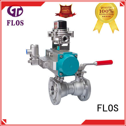 FLOS pneumaticelectric one piece ball valve for business for closing piping flow