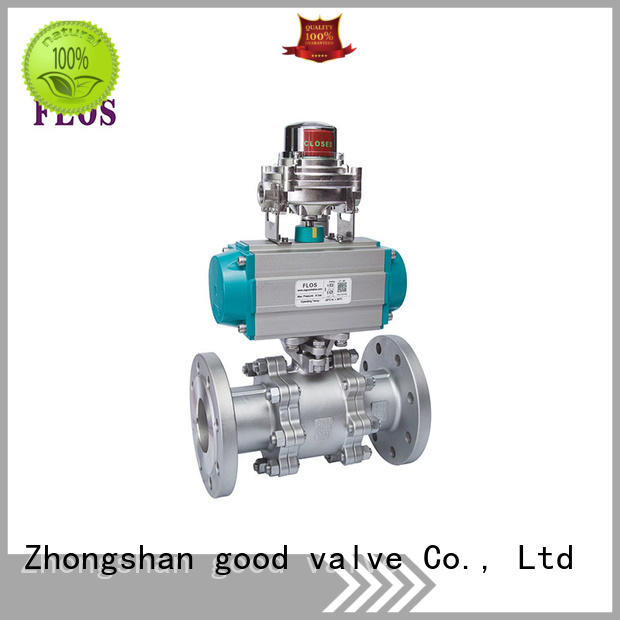 FLOS durable 3-piece ball valve supplier for closing piping flow