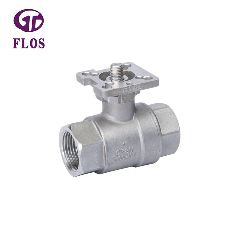 2 pc high-platform ball valve,threaded ends