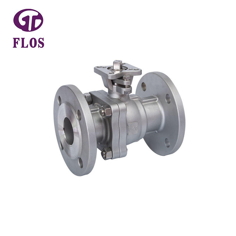 2 pc high-platform ball valve,flanged ends