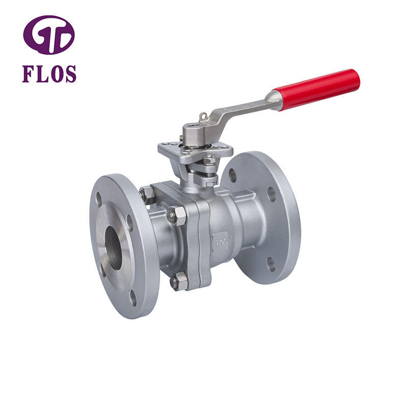 2 pc manual high-platform ball valve,flanged ends