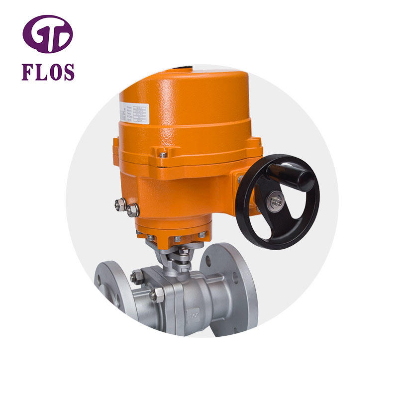2 pc electric /worm high-platform ball valve, flanged ends
