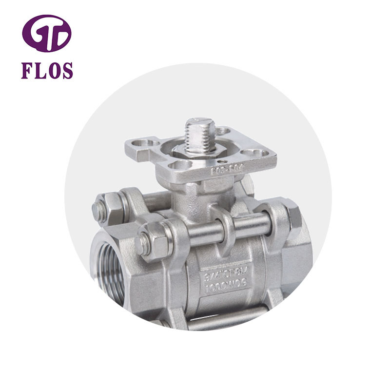 FLOS pc 3 piece stainless ball valve Supply for opening piping flow-1