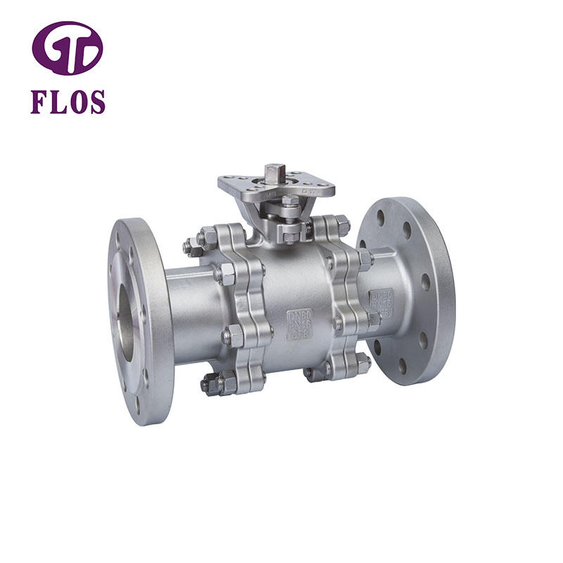 3 pc high-platform ball valve, flanged ends