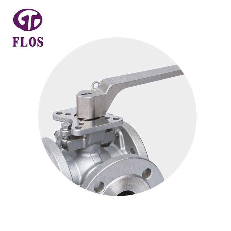 3 way manual stainless steel high-platform ball valve,flanged ends