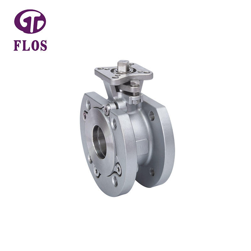 One pc wafer type high-platform ball valve, flanged ends
