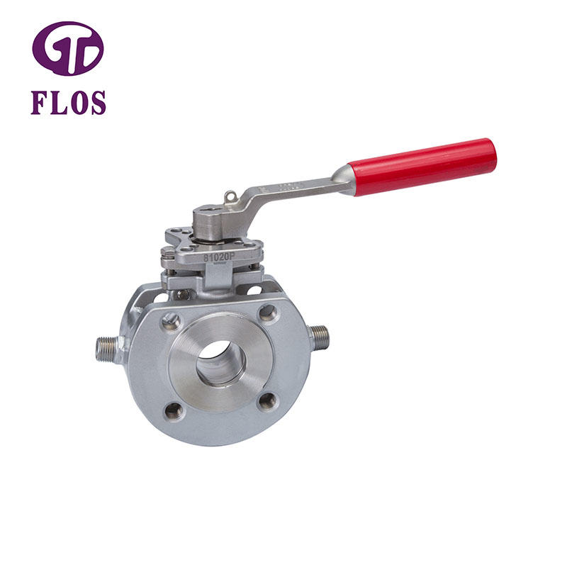 One pc manual heat preservation ball valve,flanged ends
