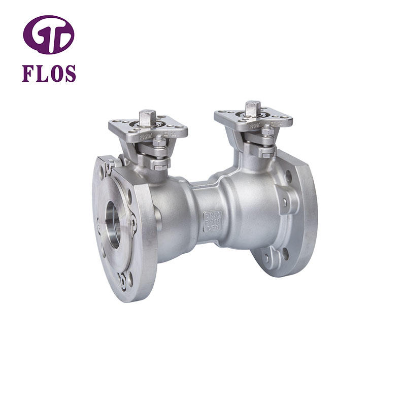 One pc stainless steel double high-platform ball valve