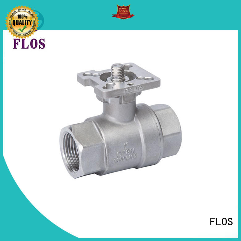 FLOS positionerflanged ball valves supplier for closing piping flow