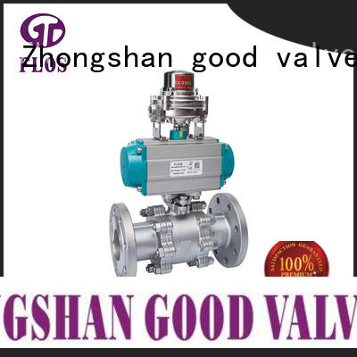 FLOS position 3 piece stainless steel ball valve supplier for closing piping flow