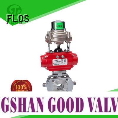 FLOS safety 1-piece ball valve supplier for opening piping flow