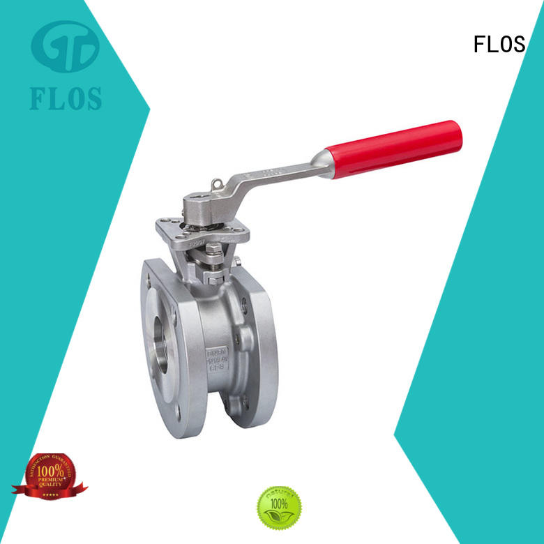FLOS double 1 pc ball valve supplier for opening piping flow