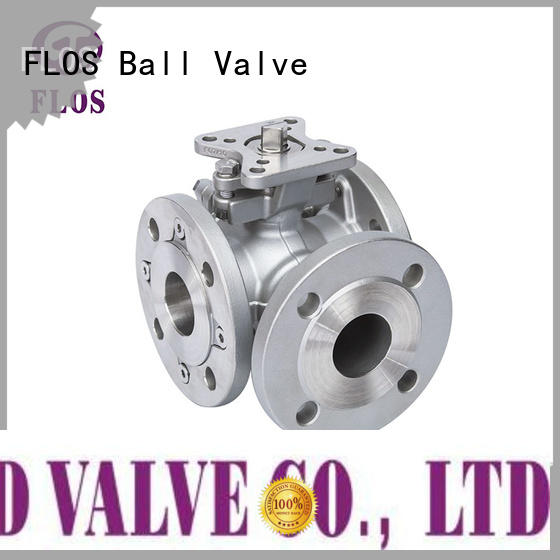 FLOS ends three way valve Suppliers for closing piping flow