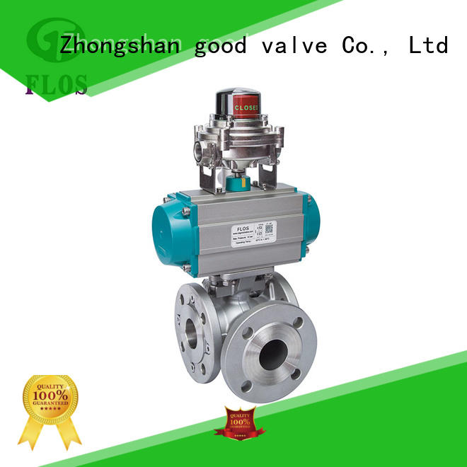 FLOS position three way valve supplier for closing piping flow
