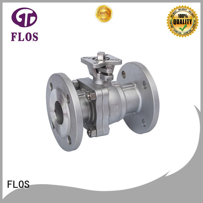 FLOS valve 2-piece ball valve wholesale for opening piping flow