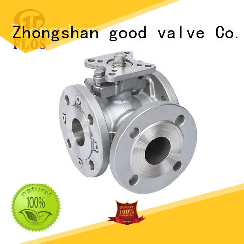 FLOS position 3 way flanged ball valve supplier for directing flow