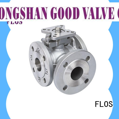 FLOS high quality three way ball valve suppliers manufacturer for opening piping flow