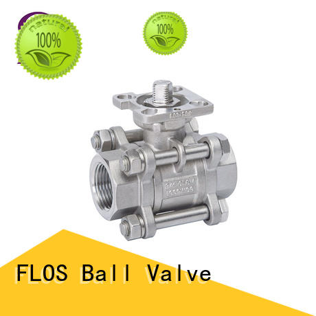 FLOS experienced 3 piece stainless ball valve wholesale for opening piping flow