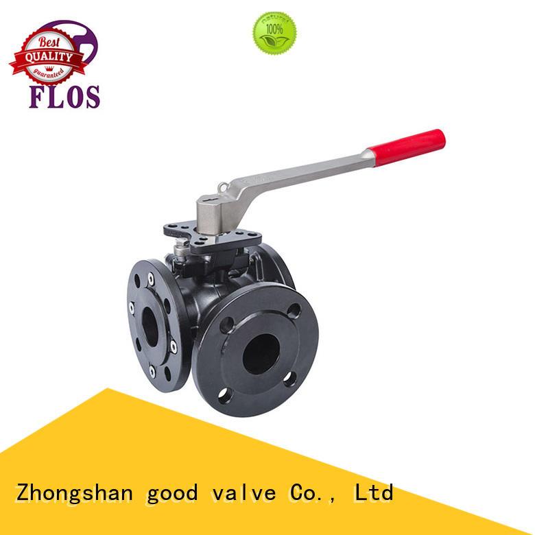 3 way manual carbon steel high-platform ball valve,flanged ends