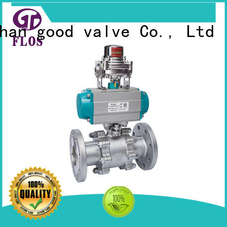 safety 3-piece ball valve pneumatic manufacturer for closing piping flow