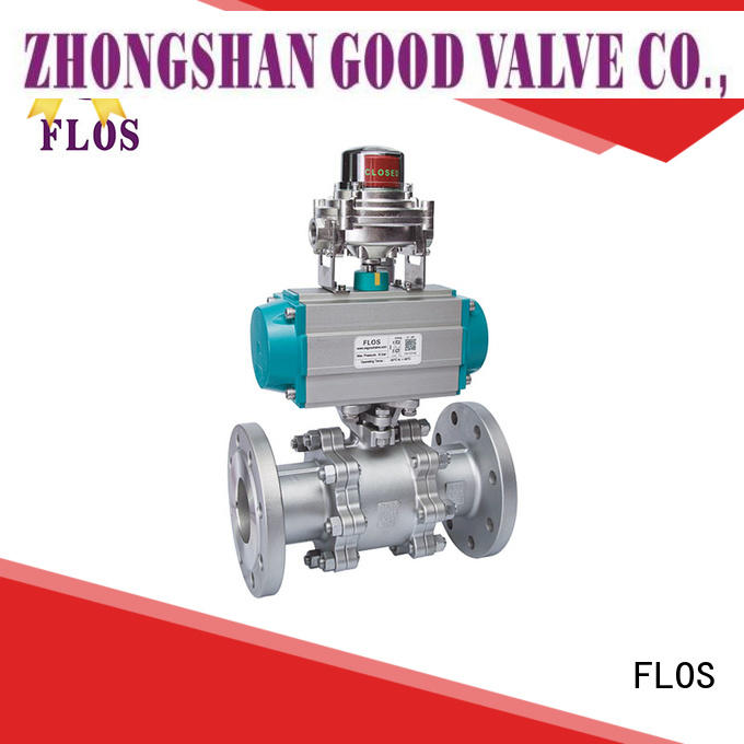 FLOS openclose 3-piece ball valve supplier for opening piping flow
