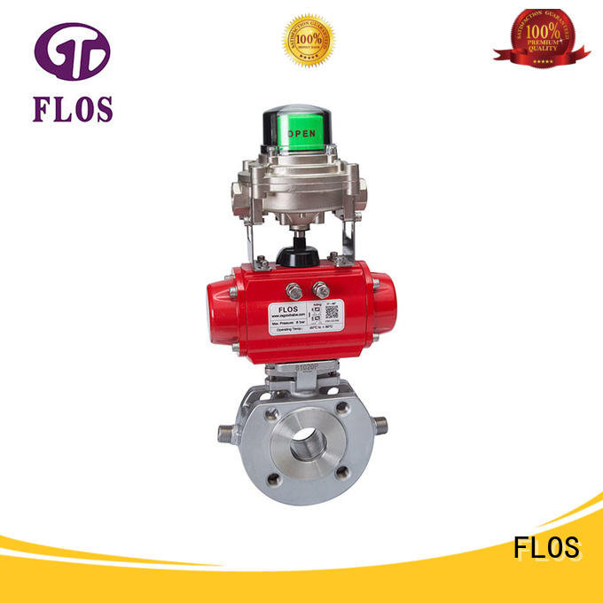 FLOS ends 1 pc ball valve manufacturer for closing piping flow