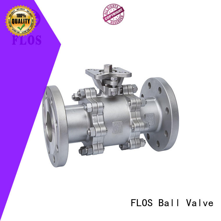 FLOS ends 3-piece ball valve wholesale for opening piping flow