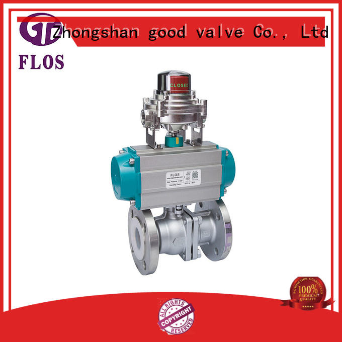 FLOS safety 2 piece stainless steel ball valve manufacturer for directing flow