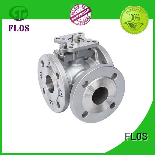 FLOS durable three way ball valve manufacturer for closing piping flow