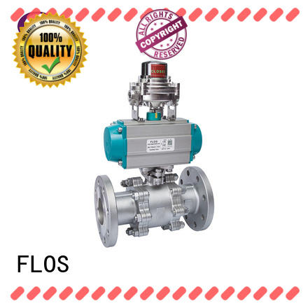 FLOS durable 3 piece stainless ball valve supplier for closing piping flow