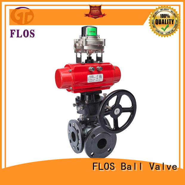 FLOS stainless flanged end ball valve manufacturer for directing flow
