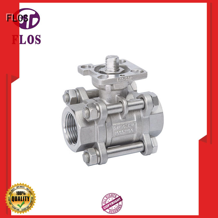 FLOS position 3-piece ball valve manufacturer for opening piping flow