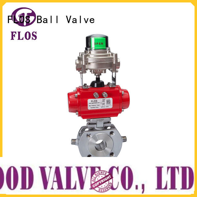 FLOS carbon one piece ball valve wholesale for closing piping flow