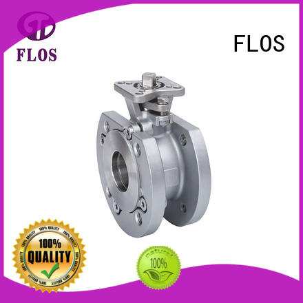 FLOS switchflanged 1-piece ball valve wholesale for closing piping flow