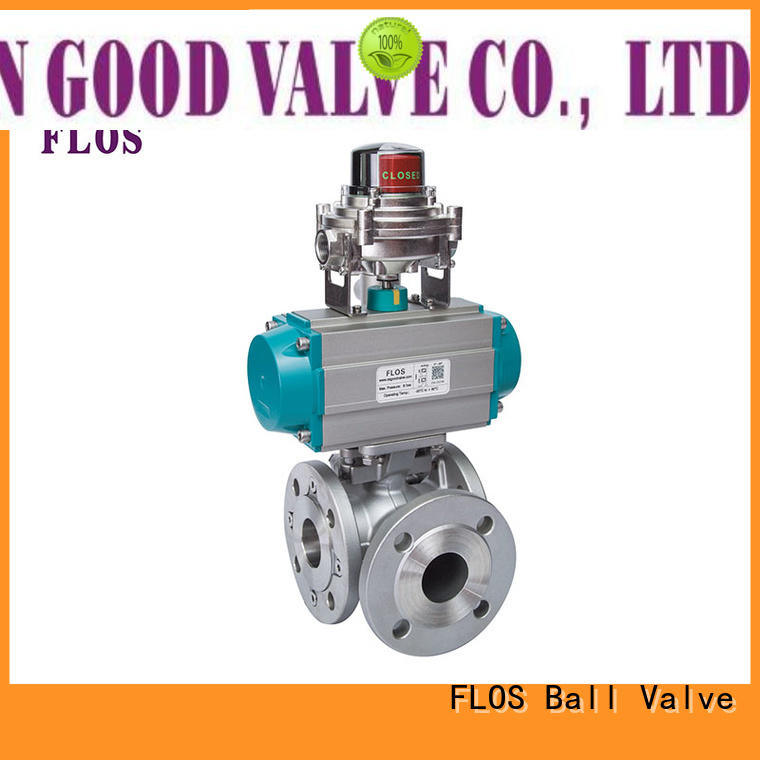 FLOS flanged three way ball valve suppliers manufacturer for directing flow