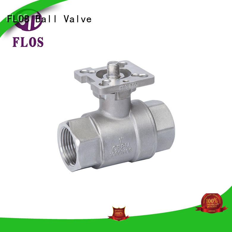 FLOS manual 2-piece ball valve wholesale for directing flow
